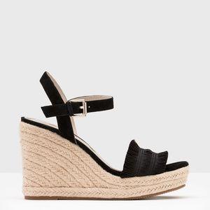 Boden Laticia Black Espadrilles Wedges Sandals